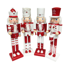 SET4 38CMH RED/WHITE NUTCRACKERS