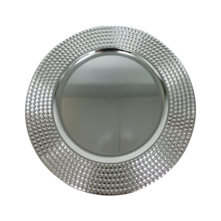 CHARGER PLATE - SILVER PYRAMID