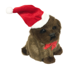 CHOCOLATE DOG WITH SANTA HAT