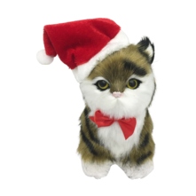 TORTICESHELL STRIPE CAT WITH SANTA HAT