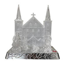 ACRYLIC LED CHURCH NATIVITY
