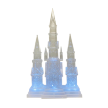 LED CLEAR CRYSTAL CHURCH SNOWGLOBE