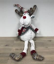 60CM SITTING FROSTED DEER PLUSH