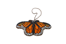 HAND EMBROIDERED MONARCH BUTTERFLY (2)