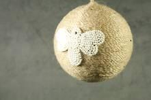 JUTE BALL WITH WHITE BEADED HONEY BEE (6)