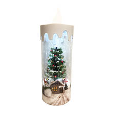 SNOWING SNOWMAN CANDLE