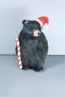 SISAL XMAS BLACK BEAR