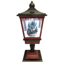 RED/GREEN TABLE LAMP WITH TRAIN