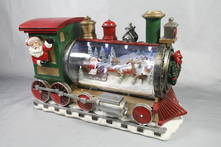 RESIN TRAIN WITH LED AND SCENE