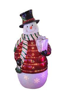 GIANT FIBRE-OPTIC SNOWMAN