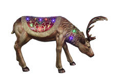 HEAD DOWN  DEER WITH LED LIGHTS
