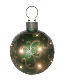 36CMD GREEN LED BAUBLE