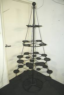 4TIER METAL HANGING STAND WITH 35 CANDLE PLATES