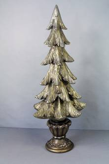49CMH DARK GOLD CHRISTMAS TREE
