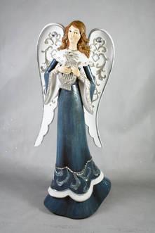 BLUE ANGEL PLAYING HARP