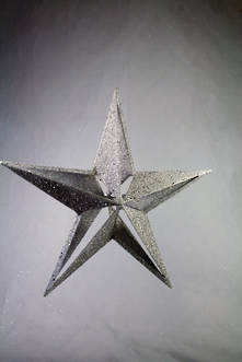28CMH SILVER FIVE TIP CUT OUT STAR