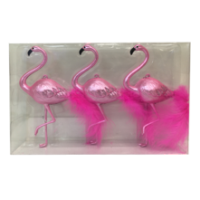SET3 BLUSH PINK PLASTIC FLAMINGO HANGERS