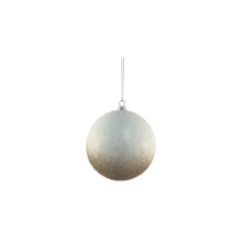 10CMD WHITE/CHAMPAGNE FROSTED BAUBLE HANGER