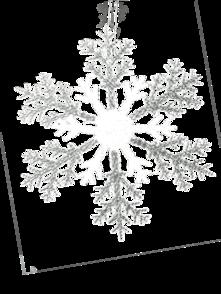 30CMD CLEAR/SILVER ACRYLIC SNOWFLAKE (12)