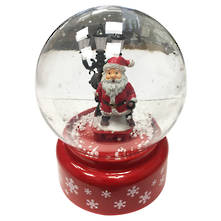 RED BLOWING SNOWGLOBE LAMP