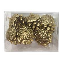 SET6 GOLD PINE CONES (6)