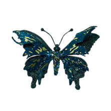 17.5CMW GREEN/GOLD BUTTERFLY ON CLIP