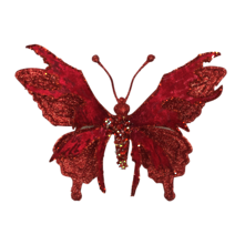 17.5CMW RED BUTTERFLY ON CLIP