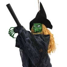WITCH ON BROOMSTICK - NOISE ACTIVATED