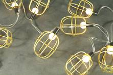 GOLD WIRE BALL BATTERY LIGHTS