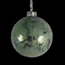 8CMD SAGE GREEN / SILVER GLASS BALL (12)