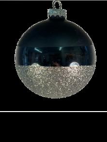 8CMD MODERN BLACK WITH SILVER GLITTER BASE BALL (12)