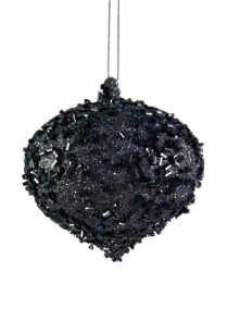 8CMD DEEP BLUE/BLACK ONION BAUBLE (12)