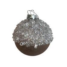 BLUSH ICICLE GLASS BALL (12)