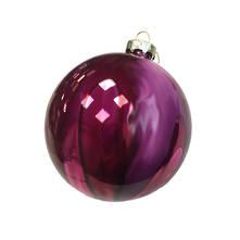 10CMD PURPLE/PINK GLASS BALL (6)
