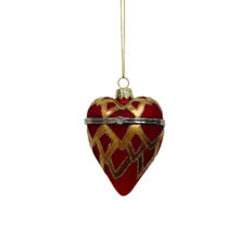 RED/GOLD GLASS OPENABLE HEART (6)