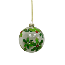 CLEAR GLASS IVY BALL (12)