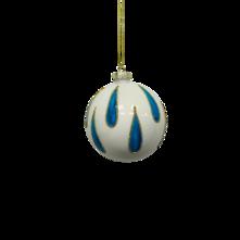 WHITE BALL WITH BLUE RAIN DROP (12)