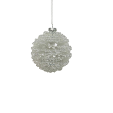 CLEAR AND WHITE GLASS BALL (12)