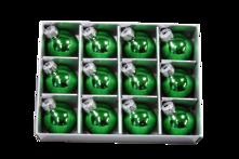 SET12 3CMD GREEN GLASS HANGERS (6)
