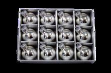 SET12 3CMD SILVER GLASS HANGERS (6)