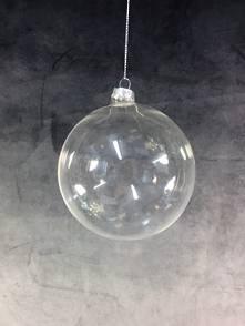8CMD PLAIN CLEAR GLASS BAUBLE (12)