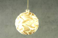 8CMD GOLD GLASS BALL WITH WAVY WHITE LINES (12)