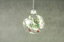 8CMD GLASS BALL WITH HOLLY INSET (12)