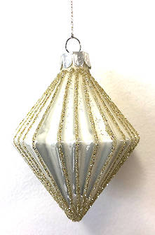 8CML RIDGED GLASS OLIVE WITH GLITTER LINES (12)