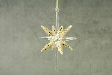 8CMW GOLD GLITTER AND CLEAR GLASS STAR (12)