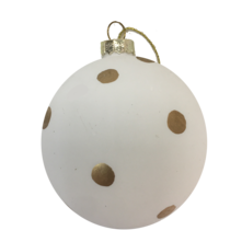 9CMD WHITE GLASS BALL WITH GOLD DOTS (12)