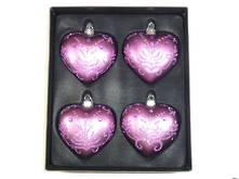 SET 4 PURPLE HEARTS W. DIAMANTE (2)
