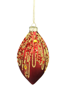 RED GLASS ONION WITH GOLD GLITTER (12)