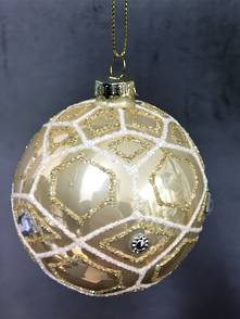 GLASS BALL WITH GOLD DIAMONDS (12)