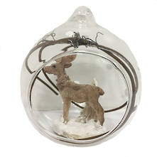 HANGING GLASS BALL WITH DEER (6)